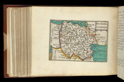 Map of Herefordshire, from Atlas of the British Isles, Pieter Van Den Keere
